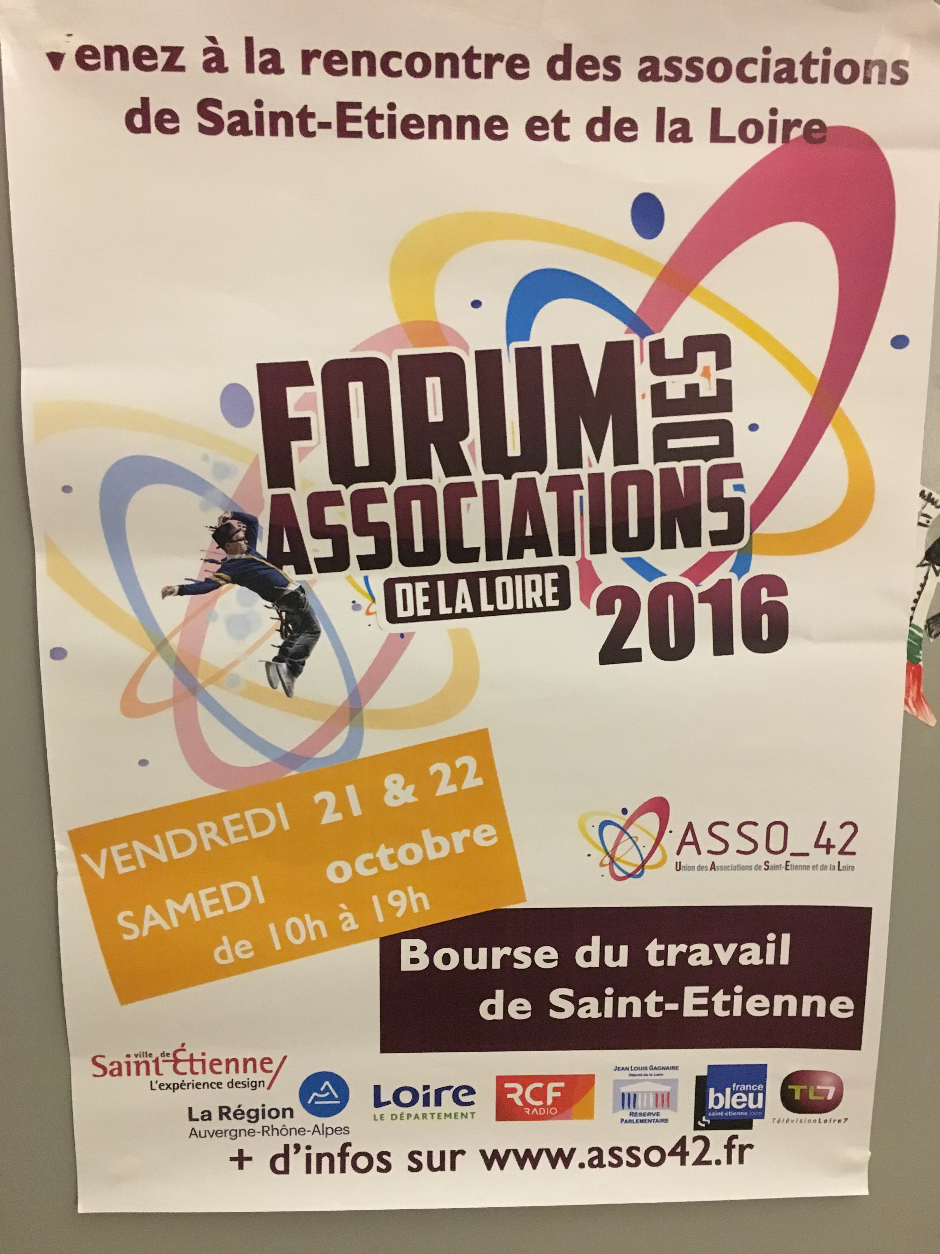 Affiche du forum des associations de la Loire 2016.